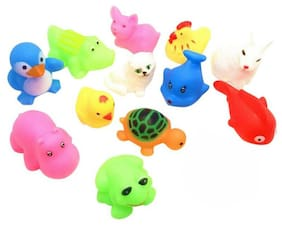 13X Child Baby Kids Bathing Water Toy Float Squeeze Sound Swim Pool Pinching Toy