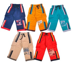 1ly Garments Boys 3/4th Shorts, Pack of 5