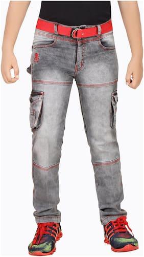 1ST RANK PLUS Boy's Slim fit Jeans - Grey