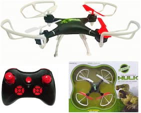 2.4GHz Drone Quadcopter Headless Mode One Key Return Feature 6 Axis Stabilization System Gyro 4 Channel (Hulk)
