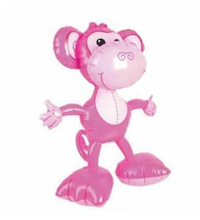 "24"" Pink Open Arms Big Footed Monkey Inflatable - Inflate Toy Party Decoration"