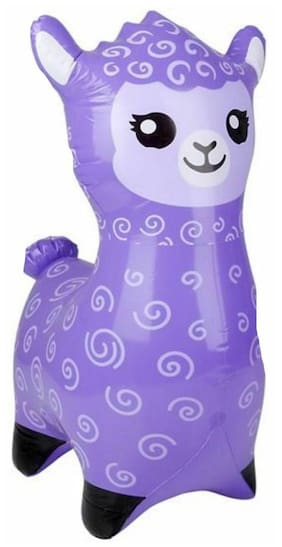 "24""  purple Alpaca - Llama  Inflatable - Inflate Blow Up Toy Party Decoration"
