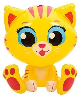 "24"" Yellow Kitten/Cat Meow Inflatable - Inflate Blow Up Toy Party Decoration"
