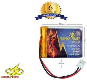 3.7V 750 mAh 402540p Lithium Polymer Li-po Rechargeable DIY Battery For RC Helico , Bluetooth