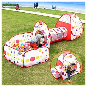 3 in 1 Fun Ball Pool Playing Pen for Kids, Toddlers, Pets (Multicolour, Balls Not Included)