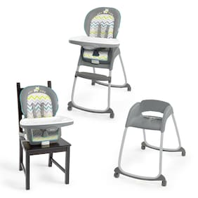 3-in-1 High Chair Convertible Baby Booster Feeding Toddler Seat Sahara Burst NEW