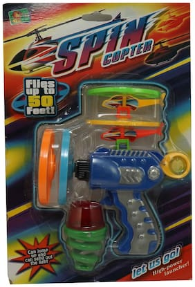 3 in 1 Spin Copter Spin top Helicopter Revoling Ring Goes upto 60 fts Shooter