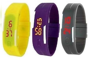 3 Pcs Digital Multicolor Watch for Kids