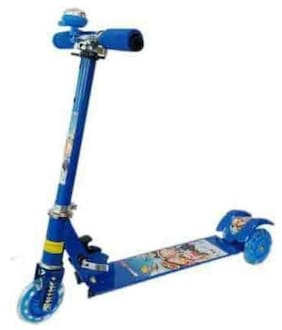 3 Wheel Folding Scooter Spiderman Non Electric Scooter (Blue)