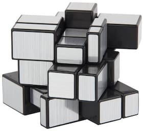 3 x 3 x 3 Silver Mirror Magic Rubic Cube By Signomark