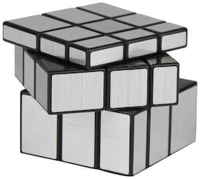 3 x 3 x 3 Silver Mirror Magic Rubic Cube By Signomark