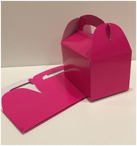 36 HOT PINK PARTY FAVOR TREAT BOXES BAG GREAT FOR BIRTHDAYS WEDDING  BABY SHOWER