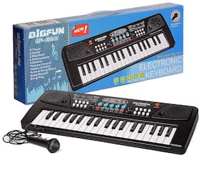 Cosset Pack 37 Key Bigfun Piano Keyboard Toy for Kids with Mic Dc Power Option Recording Charger