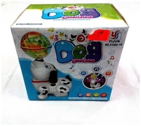3D LIGHT DANCING DOG AND & MUSICAL POWER WITH AUTOMATIC SENSOR WHITE COLOR DOG FOR YOUR KIDS