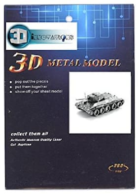 3D Metal Puzzle 3D DIY Kit T34 Tank