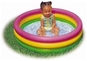 3ft Kids Swimming Pool Inflatable Pool (1Pc) Multicolor