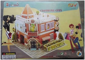 4 in 1 Clothing City House 3D Puzzle  (4 Pieces)