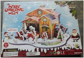 4 in 1 Meery Christmas 3d Puzzle  (4 Pieces)