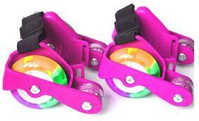 4 Wheels Skating Lightning Flashing Roller Wheels, Outdoor sports, Pink Color