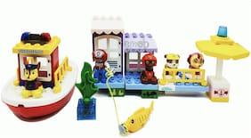40 Pcs Classic Fire Fighter Marine Rescue Boat Bulding Blocks Set Toy
