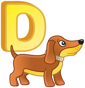 5 Ace Alphabet D For Dog Wall Sticker Paper Poster