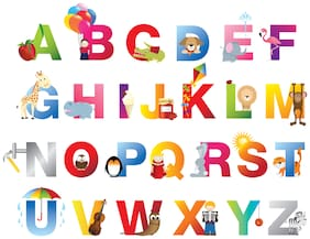 5 Ace Alphabet Chart Wall Sticker Paper Poster