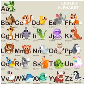 5 Ace Capital And Small Alphabet Chart Wall Sticker Paper Poster