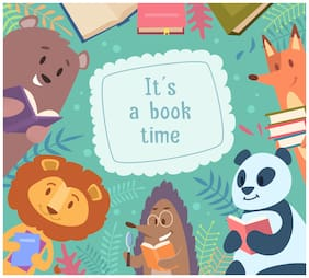 5 Ace Its A Book Time Wall Sticker Paper Poster