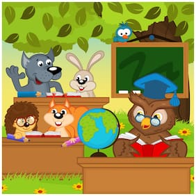 5 Ace Jungle School Wall Sticker Paper Poster