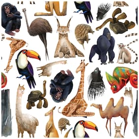 5 Ace Realistic Animal Chart Wall Sticker Paper Poster