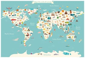 5 Ace World Chart Wall Sticker Paper Poster