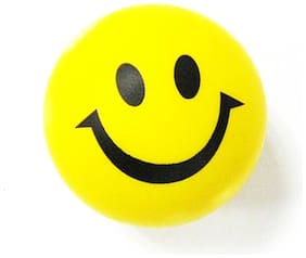 6.3cm Novelty Printing Smile Face Squeeze Ball Stress Release Toy for Kid(Colormix) #ToyWorld