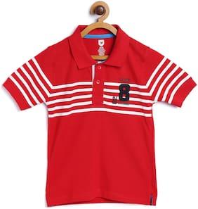 612 League Boy Cotton Printed T-shirt - Red