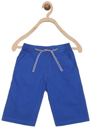 612 League Boy Solid Shorts - Blue