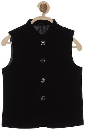 612 League Boy Cotton Solid Winter jacket - Black