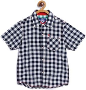 612 League Boy Cotton Solid Shirt Black
