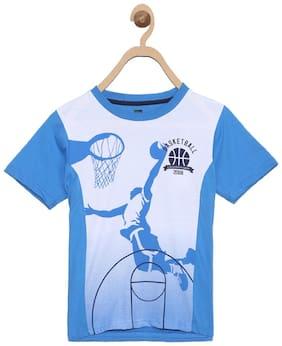 612 League Boy Cotton Printed T-shirt - Blue