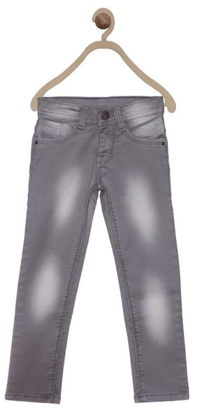 612 League Boy Solid Jeans - Grey