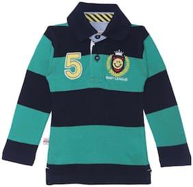 612 League Cotton Striped T shirt for Unisex Infants - Blue