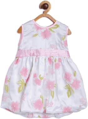 612 League Baby girl Cotton Printed Princess frock - Pink