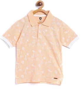 612 League Boy Cotton Printed T-shirt - Orange