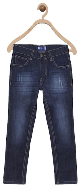 612 League Boy Solid Jeans - Blue