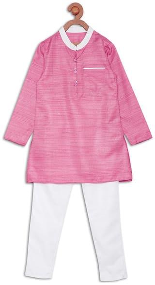 612 League Boy Cotton Printed Kurta - Pink