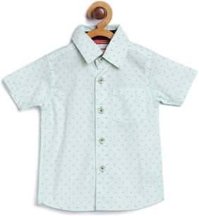 612 League Cotton Printed Shirt for Baby Boy - Green