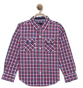612 League Boy Cotton Checked Shirt Multi