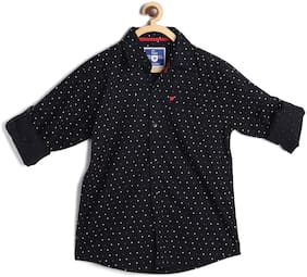 612 League Boy Cotton Solid Shirt Black