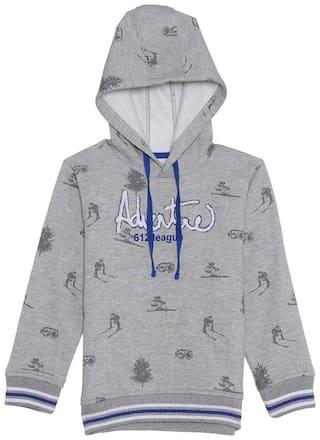 612 League Boy Cotton Printed Sweatshirt - Grey