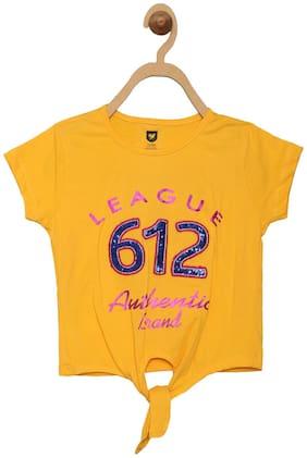 612 League Girl Cotton Printed Top - Yellow