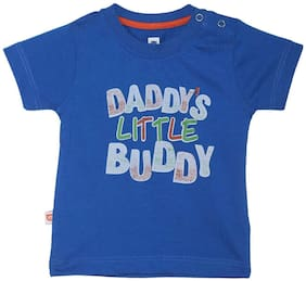612 League Cotton Printed T shirt for Baby Boy - Blue