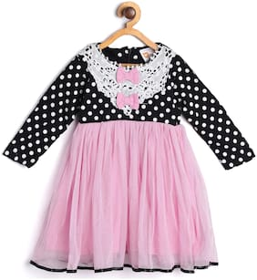 612 League Baby girl Cotton Printed Princess frock - Multi